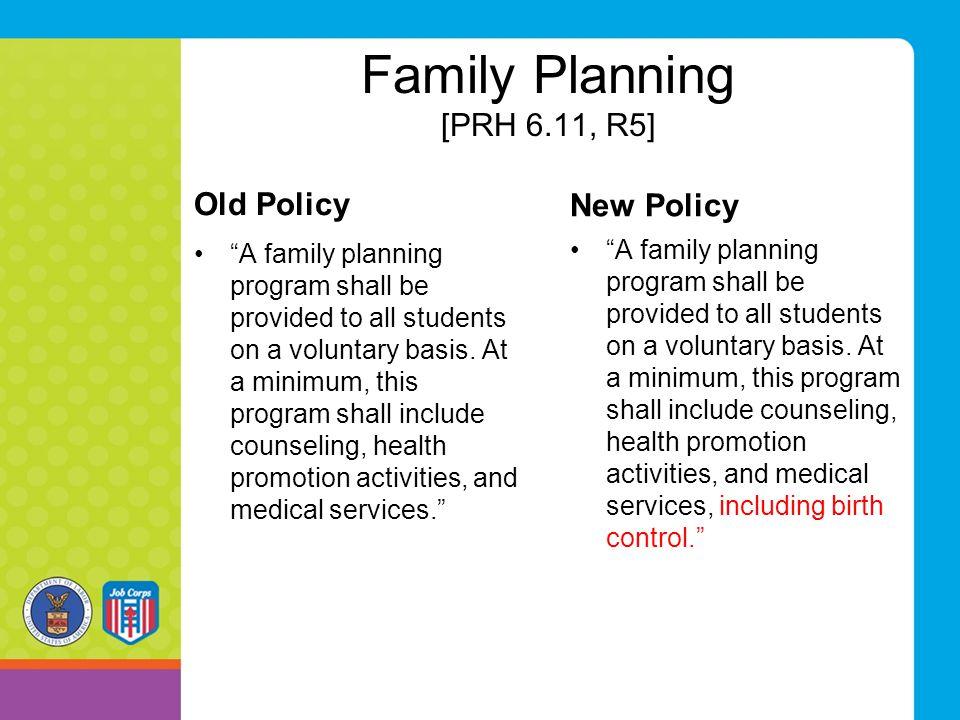 Family Planning [PRH 6.11, R5]